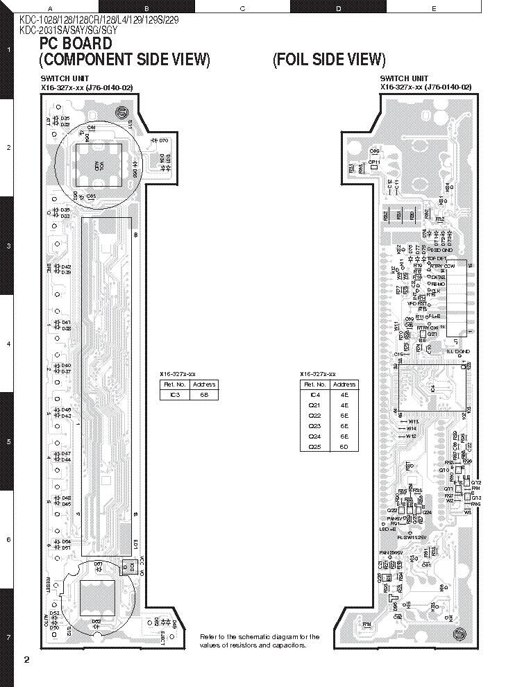 KENWOOD KDC-1028-128-129-229-2031 TYPE-2 SCH Service