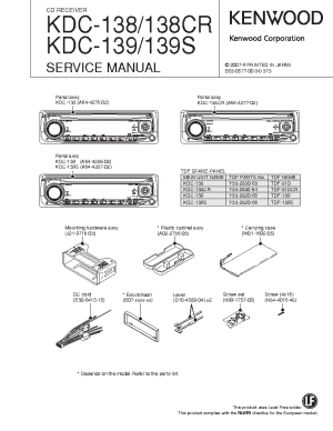 KENWOOD KDC138 CR 139 S SM Service Manual download, schematics, eeprom, repair info for