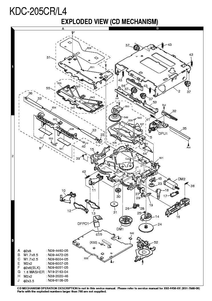 KENWOOD KDC-205CR L4 Service Manual download, schematics
