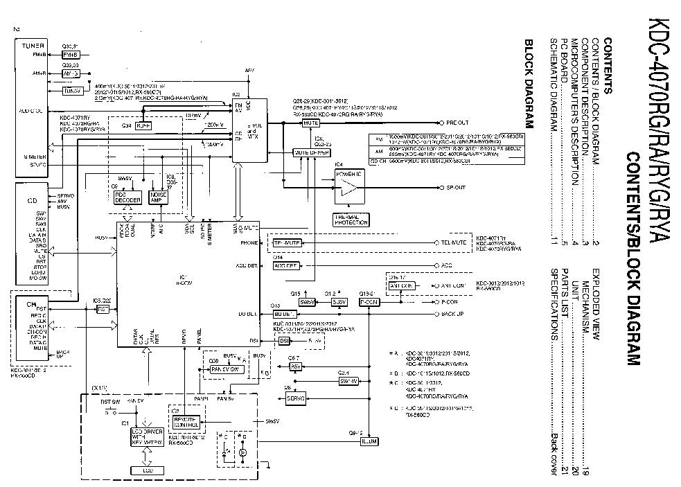KENWOOD KDC-4070 Service Manual download, schematics