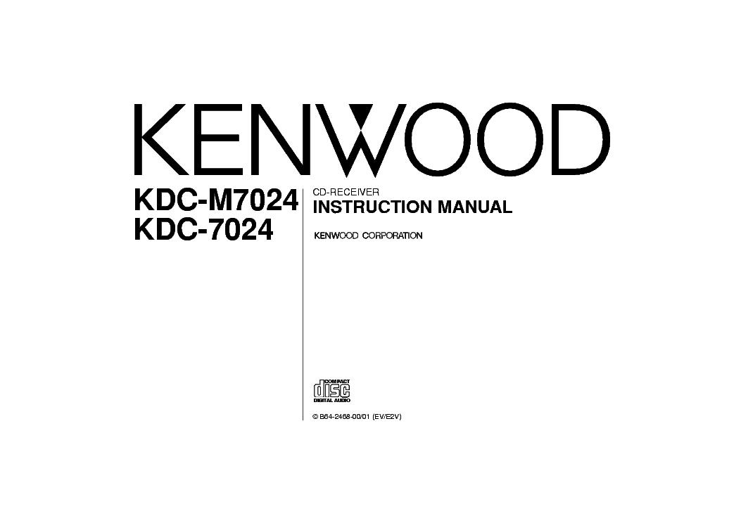 KENWOOD KDC-7024 M7024 INSTRUCTIONMANUAL Service Manual