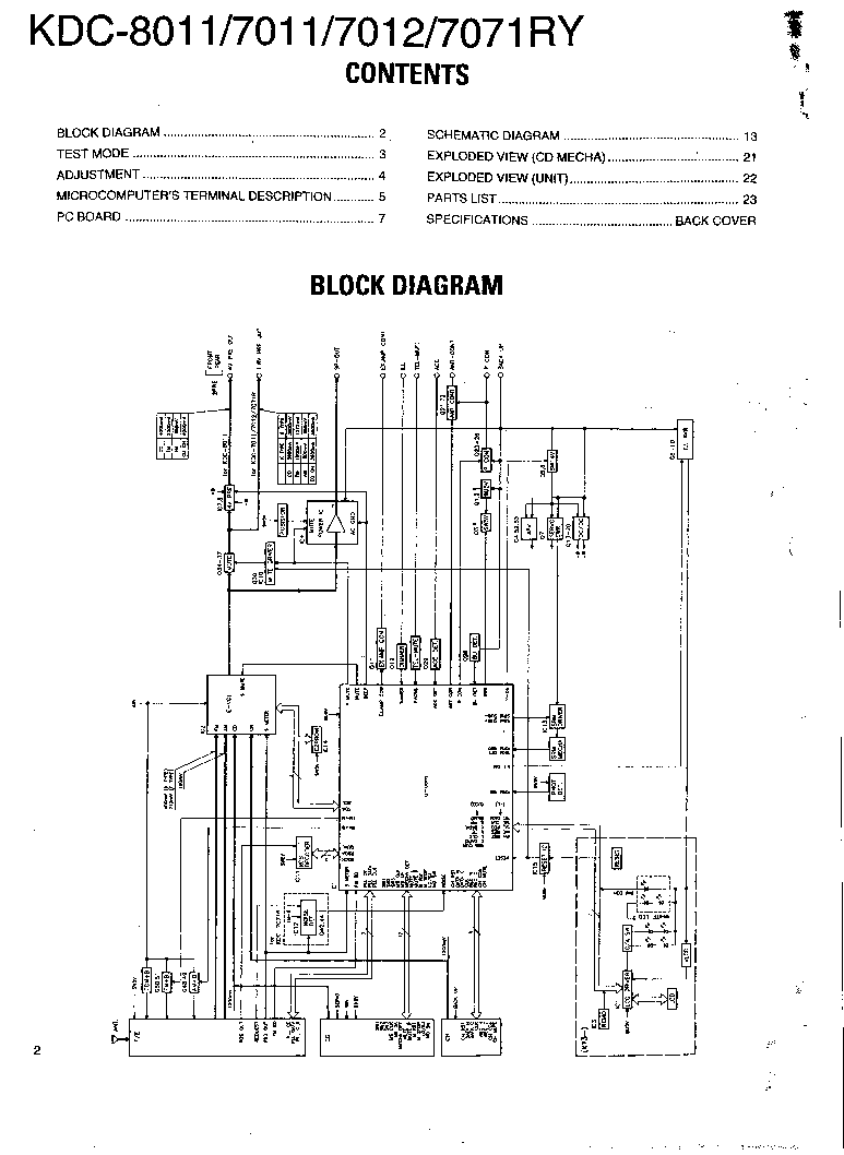 KENWOOD KDC-8011 7011 7012 7071RY Service Manual download
