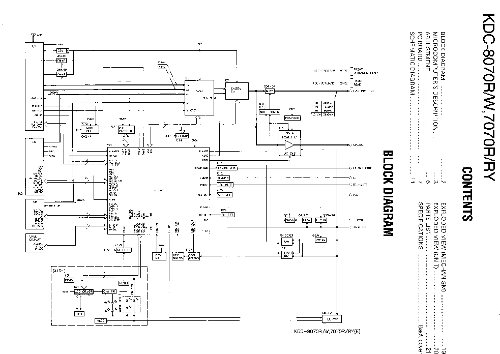 KENWOOD KDC-8070R-7070R Service Manual download