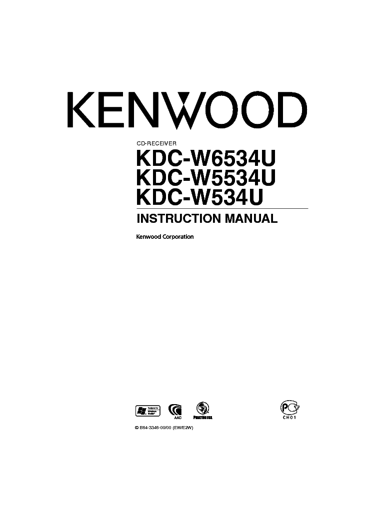 KENWOOD KDC-W3534 Service Manual free download, schematics