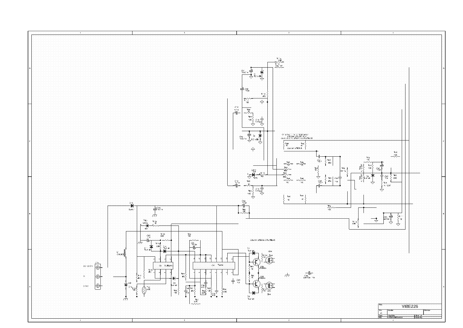 LANZAR VIBE-1800D Service Manual download, schematics