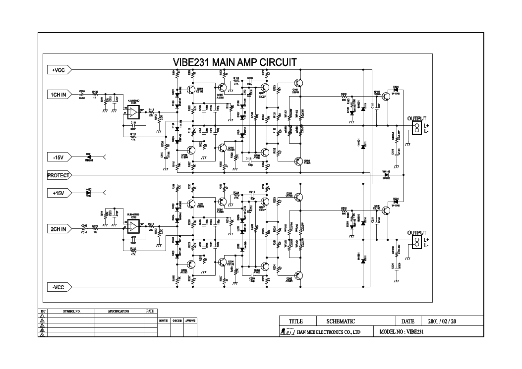 LANZAR VIBE231 CAR AMPLIFIER SCH Service Manual download