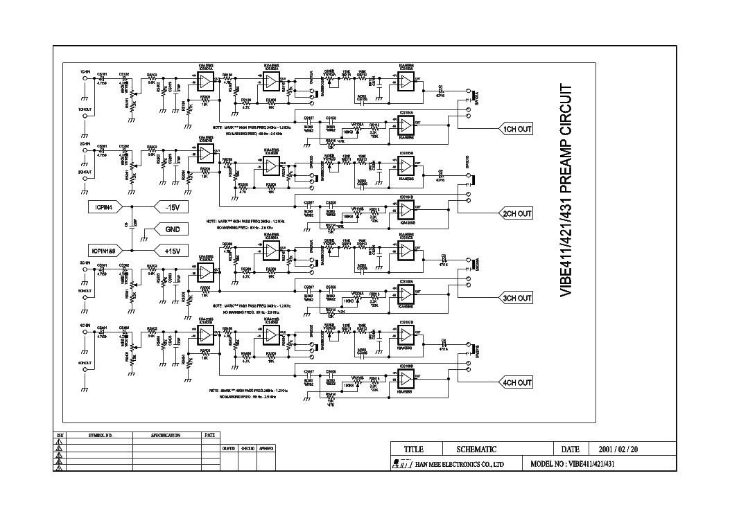 LANZAR VIBE421 CAR AMPLIFIER SCH Service Manual download