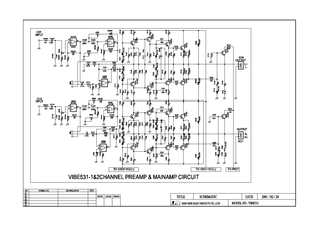 LANZAR VIBE531 CAR AMPLIFIER SCH Service Manual download