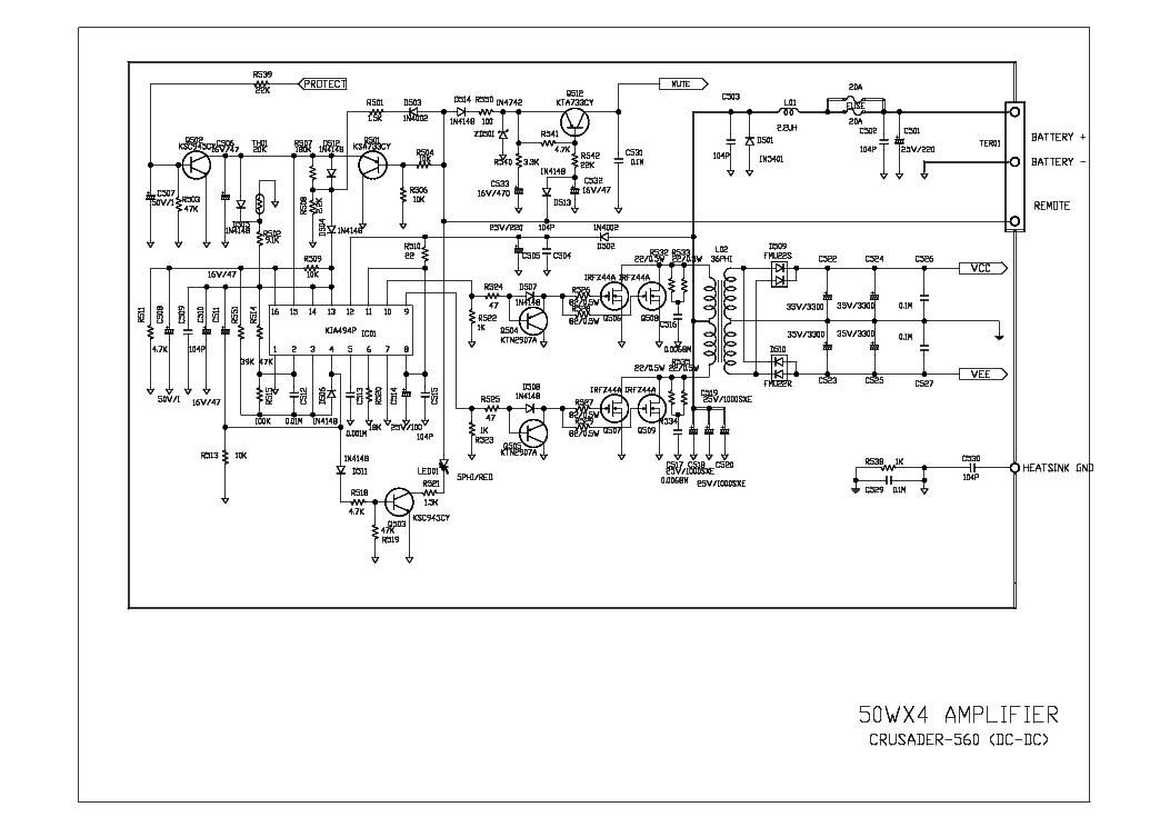 MAGNAT CRUSADER-560 SCH Service Manual download