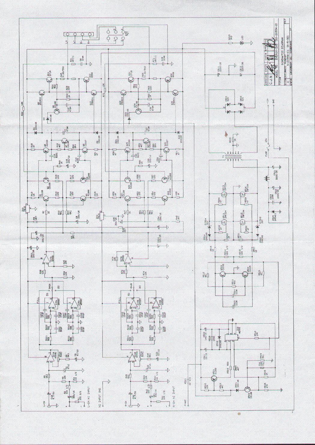 MAGNAT ENERGY 200 SCH Service Manual download, schematics