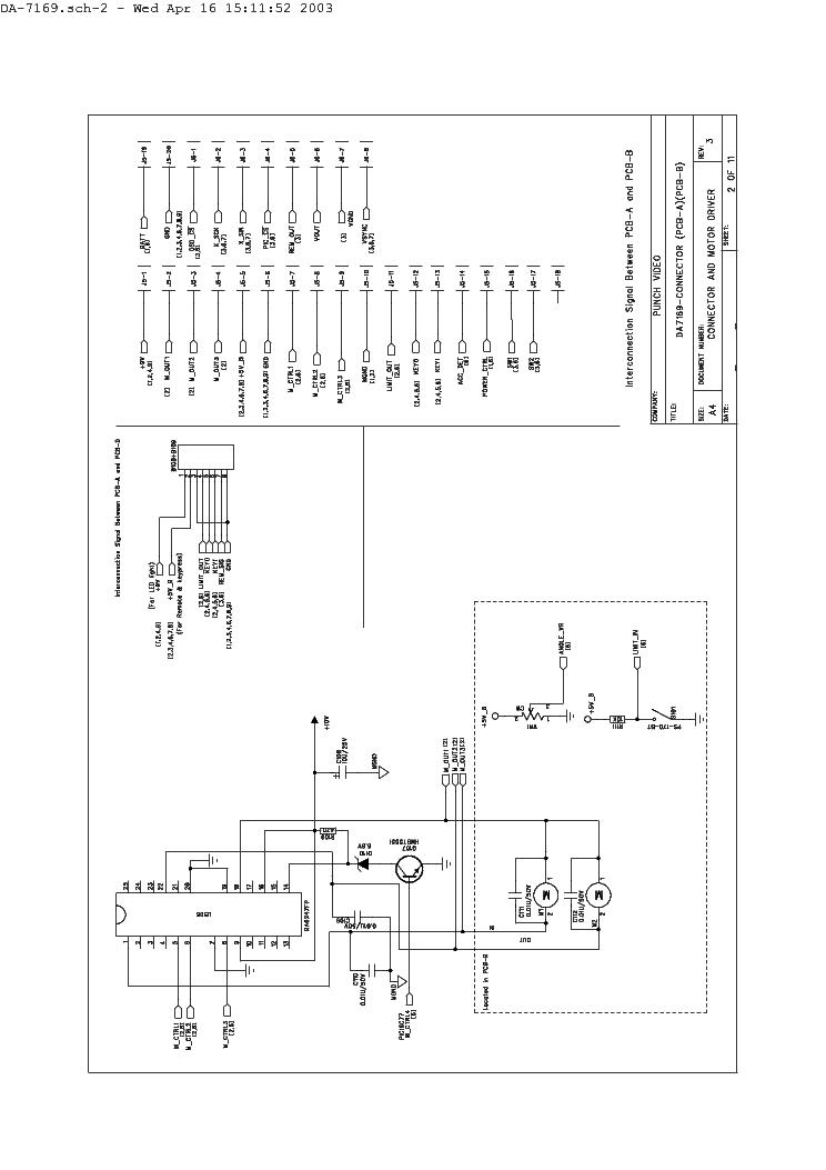 NECVOX DA7169 7INCH CAR MONITOR SCH Service Manual