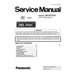 Panasonic Car Audio Wiring Diagram Sony Cd Player Cq Cp137u Service Manual Download Schematics