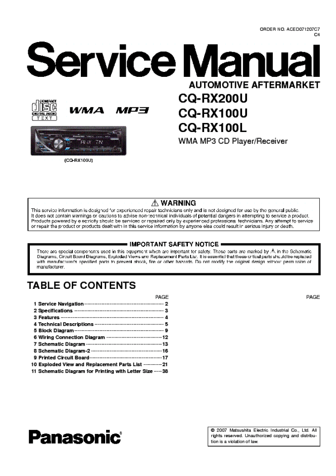 panasonic cq rx100u wiring diagram panasonic image panasonic cq rx100u wiring diagram wiring diagram on panasonic cq rx100u wiring diagram