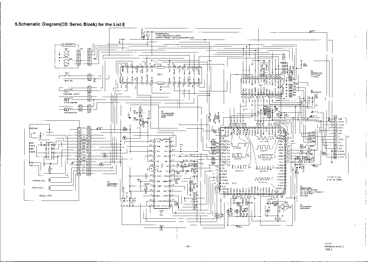 PANASONIC CX-DP801 Service Manual download, schematics
