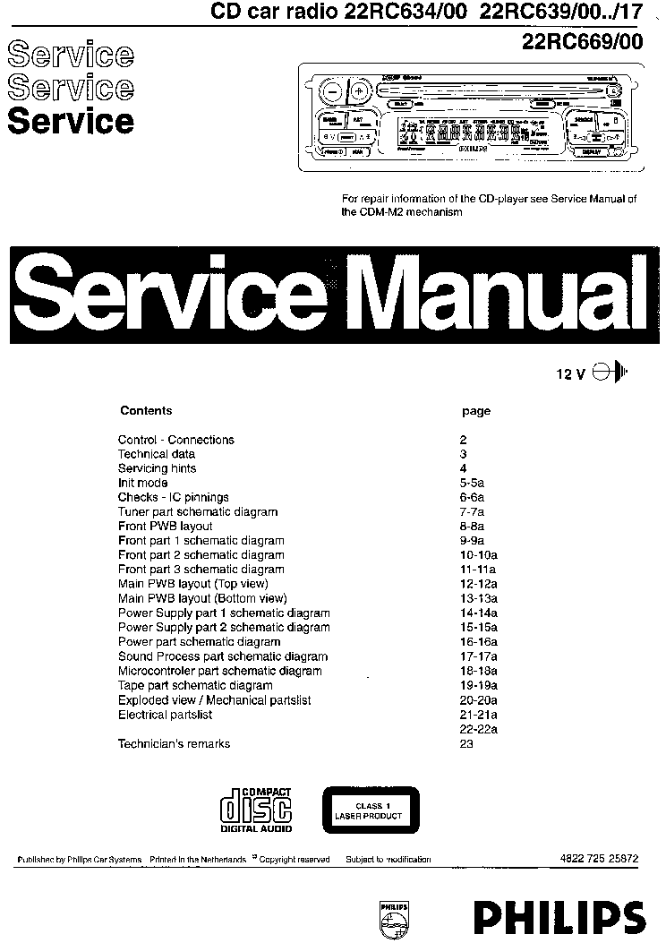PHILIPS 1186,22RC634,639,669 Service Manual download