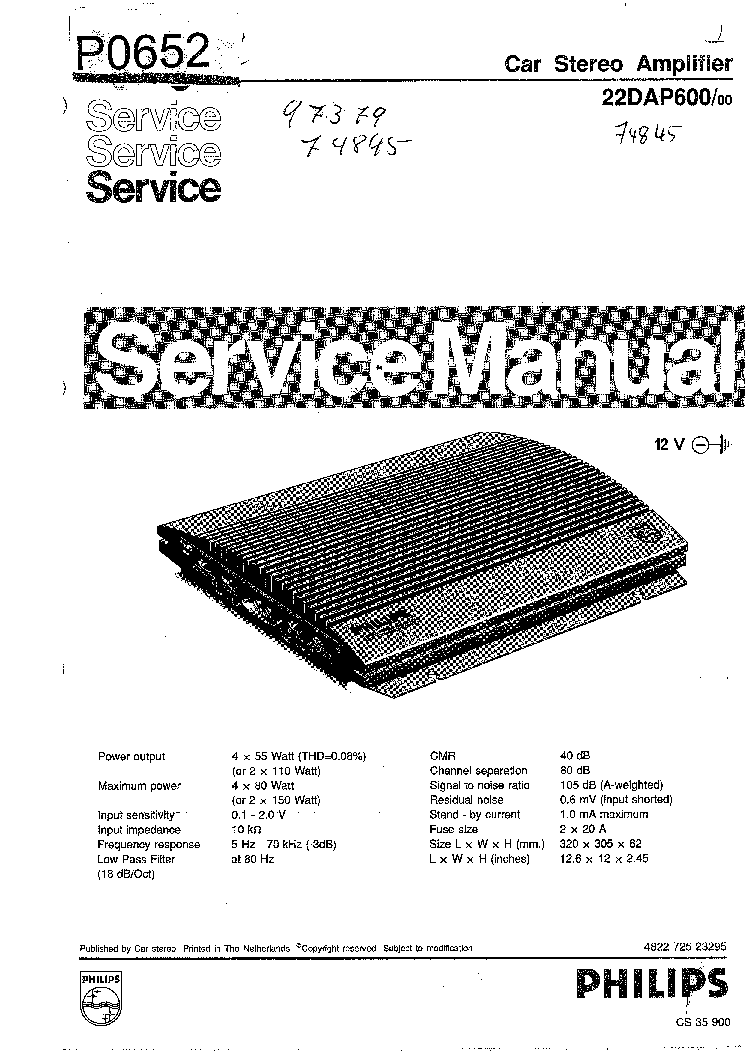 PHILIPS 22DC451 Service Manual download, schematics