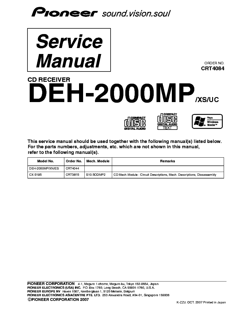 pioneer_deh 2000mp_exploded views_and_parts list.pdf_1?resize\\\=665%2C861\\\&ssl\\\=1 hinomotoc172 wiring schematic hinomotoc172 wiring diagrams  at fashall.co