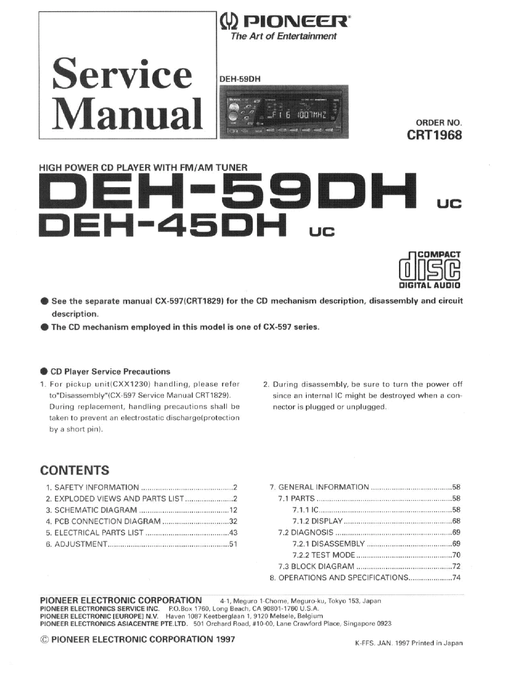 medium resolution of pioneer deh 4400hd wiring diagram pioneer p4400 wiring pioneer deh 1300mp wiring pioneer deh