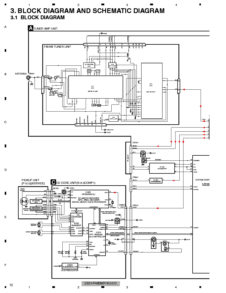PIONEER DEH-P480MP P4800MP Service Manual download