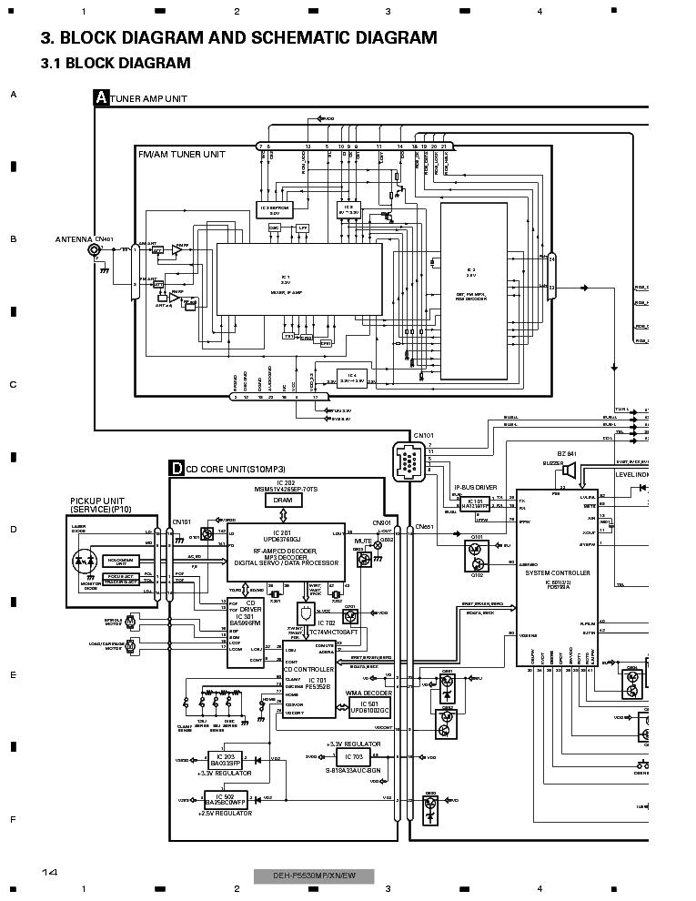 PIONEER DEH-P5530MP P5550MP Service Manual download