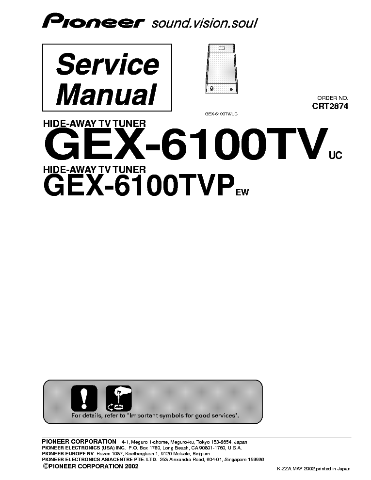 PIONEER DEH-P646,546 Service Manual free download
