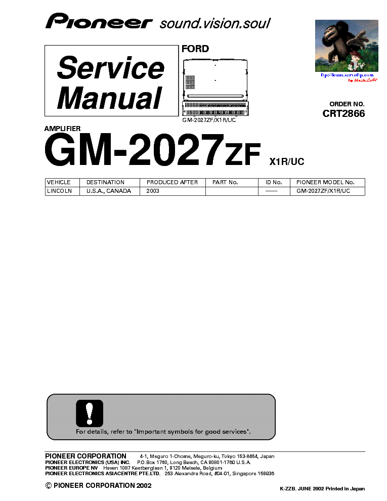 PIONEER KEH-1800-1830 Service Manual download, schematics
