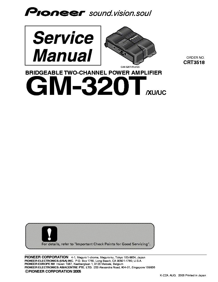 PIONEER AVH-P3200BT P3200DVD P3250BT P3250DVD SM Service