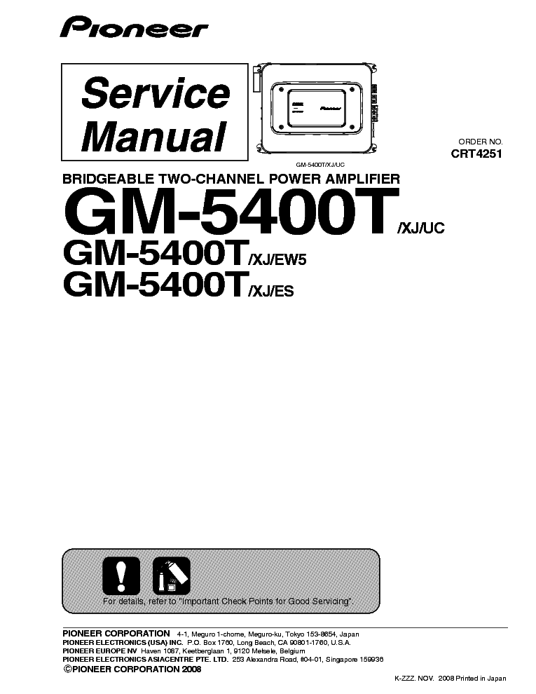 PIONEER FH-P5000MP Service Manual free download