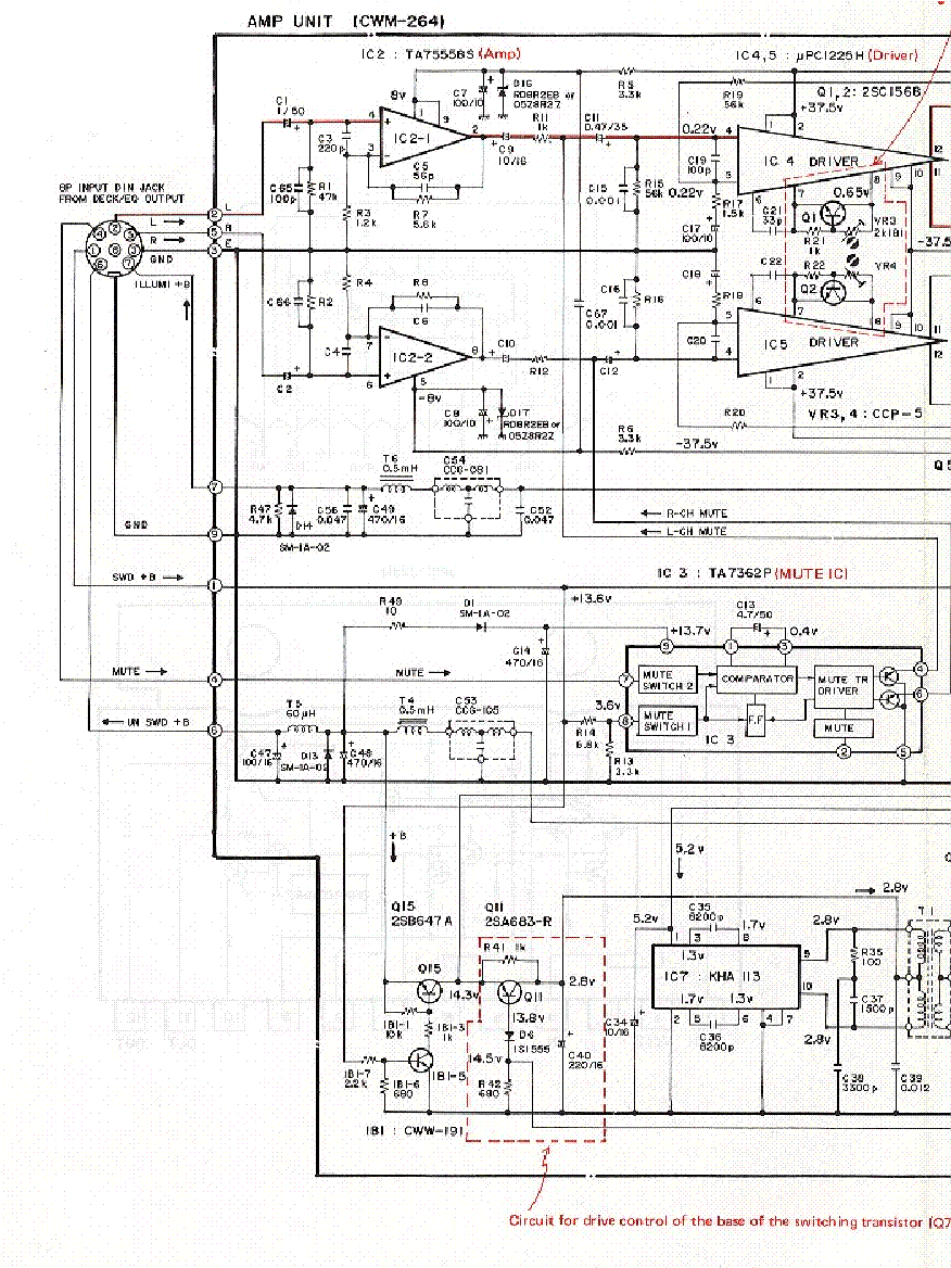 PIONEER GM-A200 SCH 2 Service Manual download, schematics