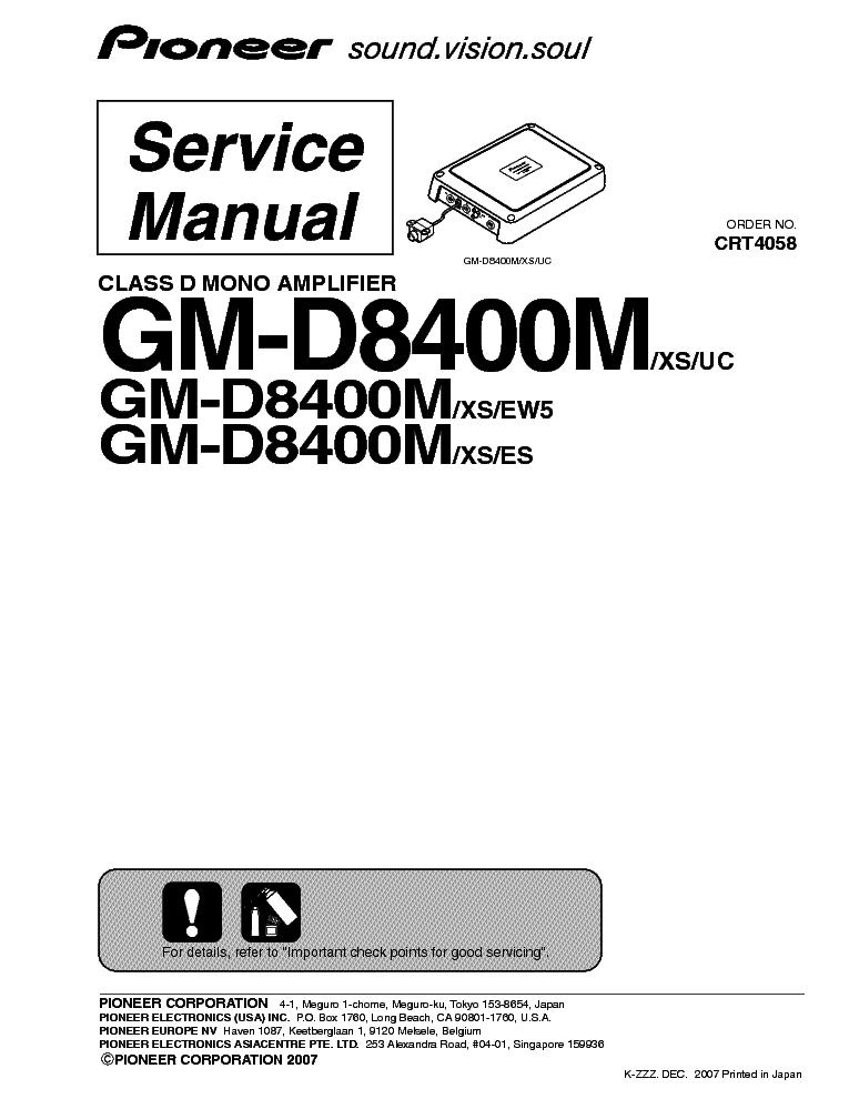 pioneer gm d8400m wiring diagram 32 wiring diagram