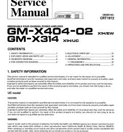 pioneer gm x314 x404 02 sm service manual 1st page  [ 3040 x 4116 Pixel ]