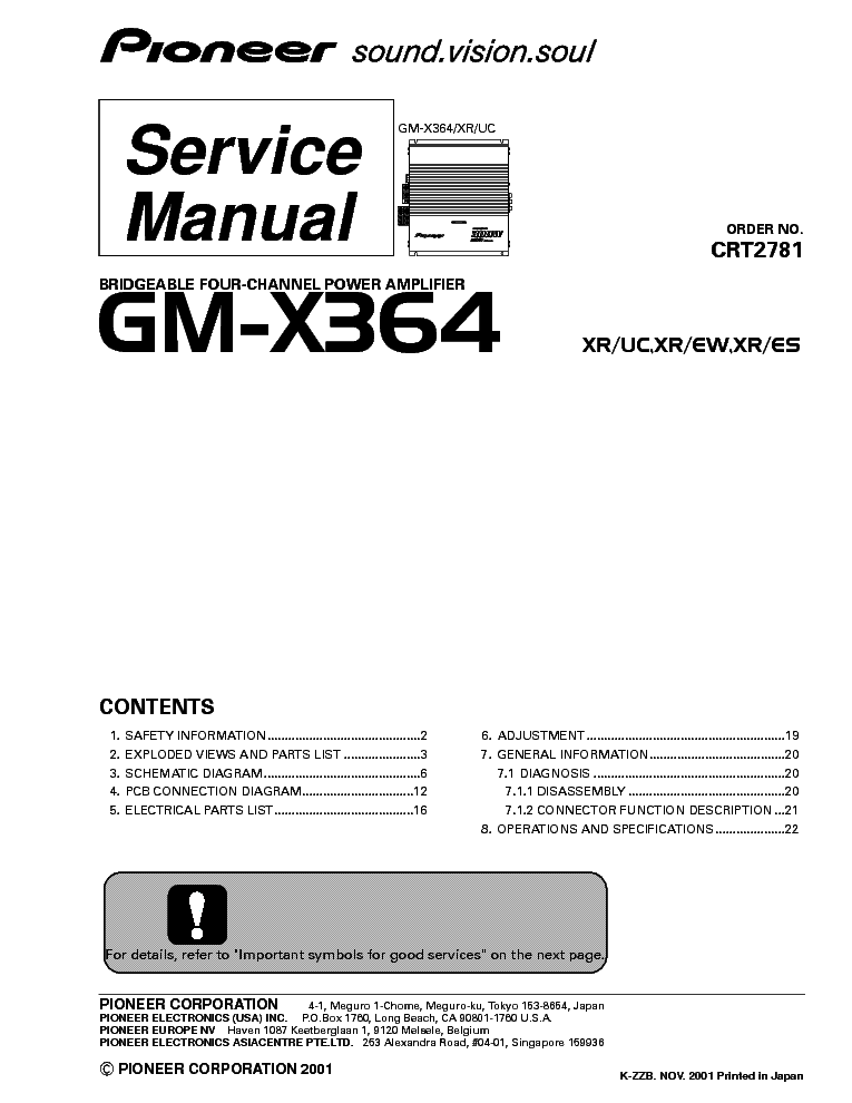 PIONEER DEH-23UB 2390UB Service Manual free download