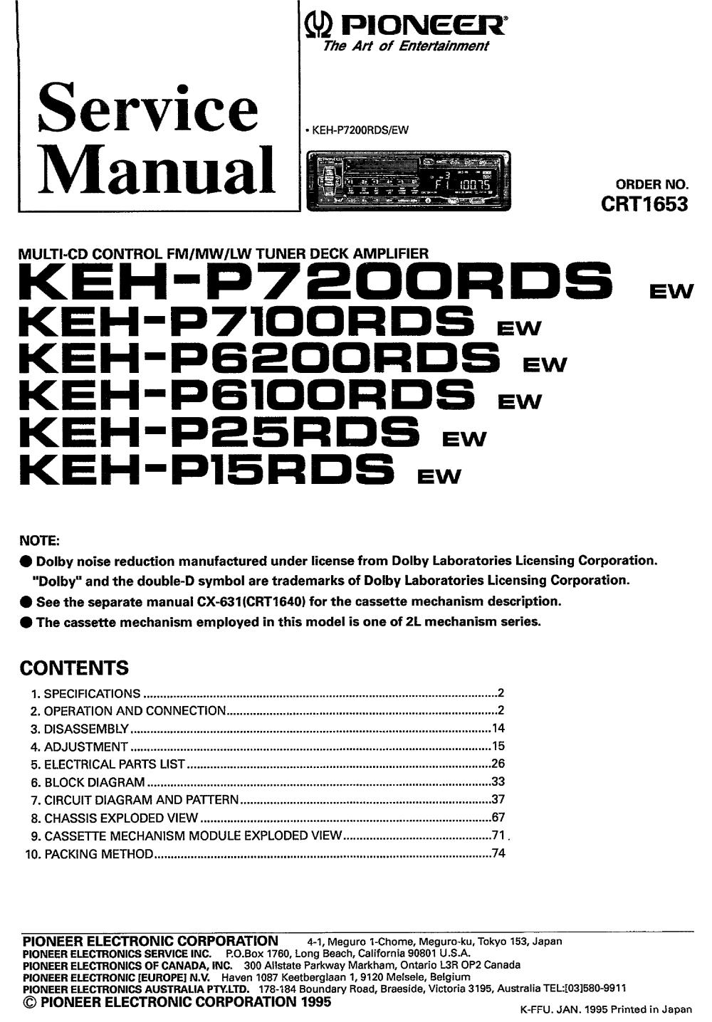 medium resolution of pioneer gm x314 x404 02 sm service manual download schematics pioneer