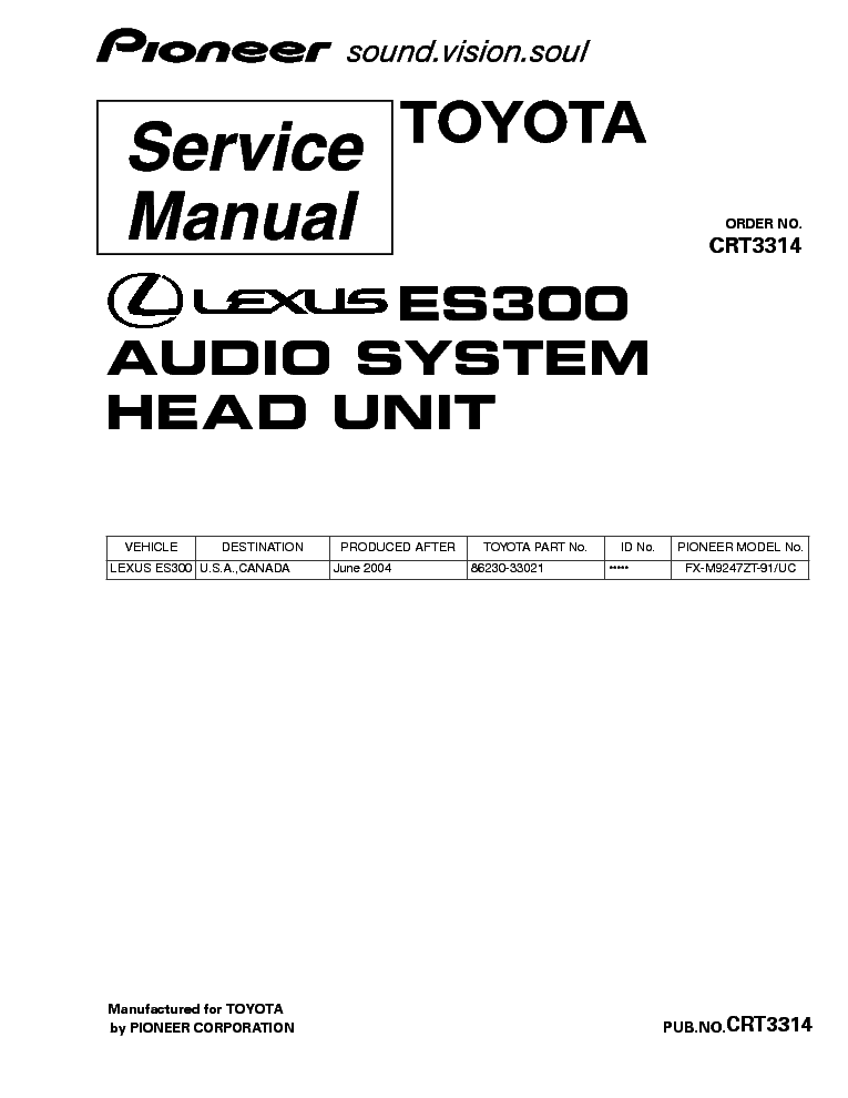 PIONEER KEH-9000RDS SCH Service Manual download