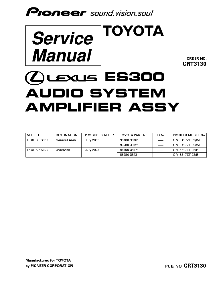 PIONEER DEH-P4800MP SCHEMATICS Service Manual free