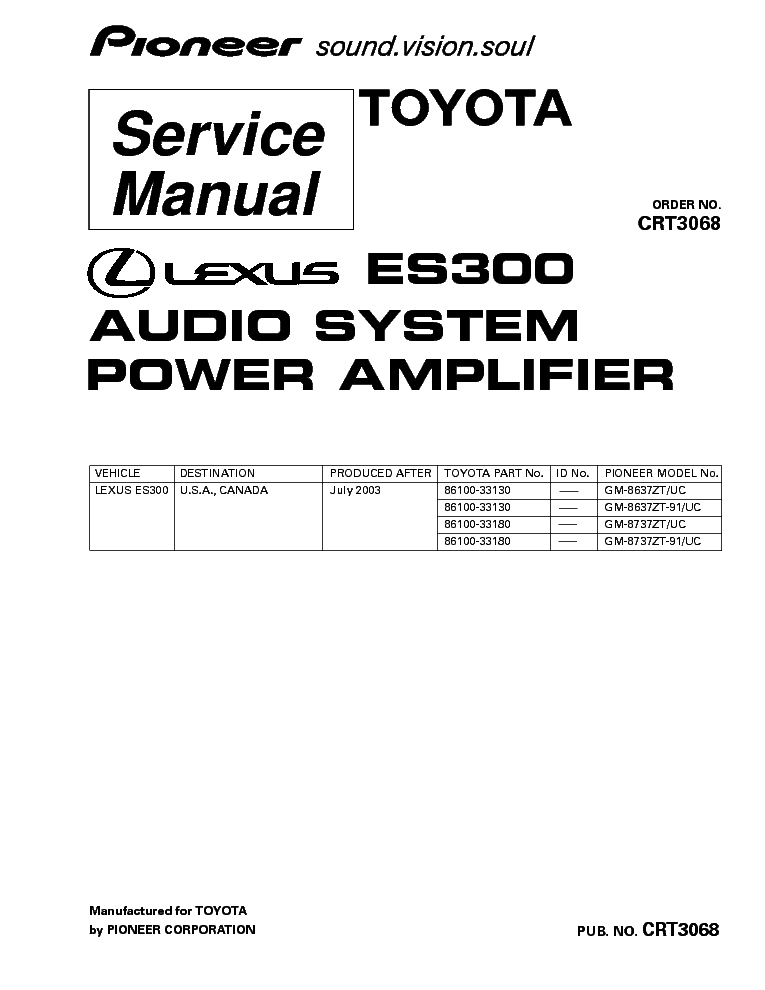 PIONEER DEH 80PRS Service Manual free download, schematics