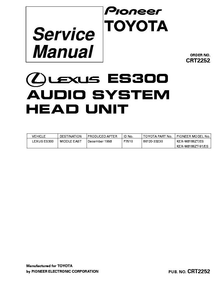 PIONEER DEH-P590IB,DEH-P5900IB Service Manual free