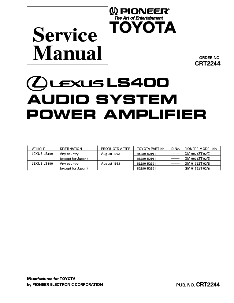 PIONEER KEX-900 SCH Service Manual free download