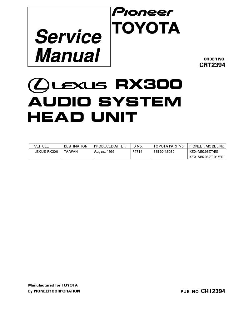 PIONEER DEH-30MP Service Manual download, schematics