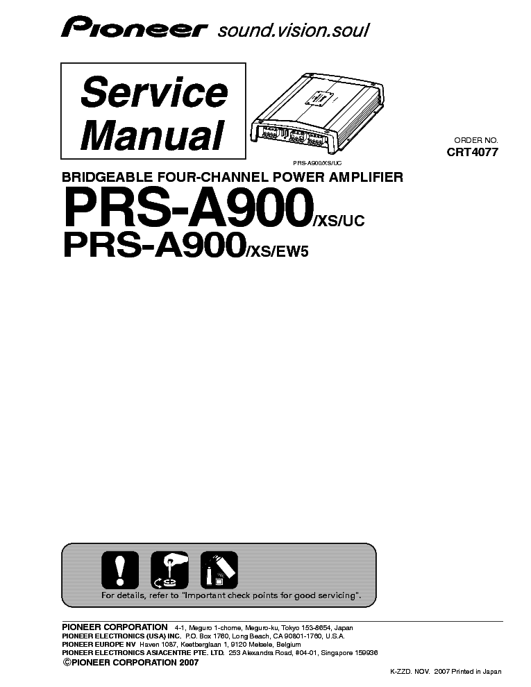 PIONEER DEH-P77MP Service Manual download, schematics