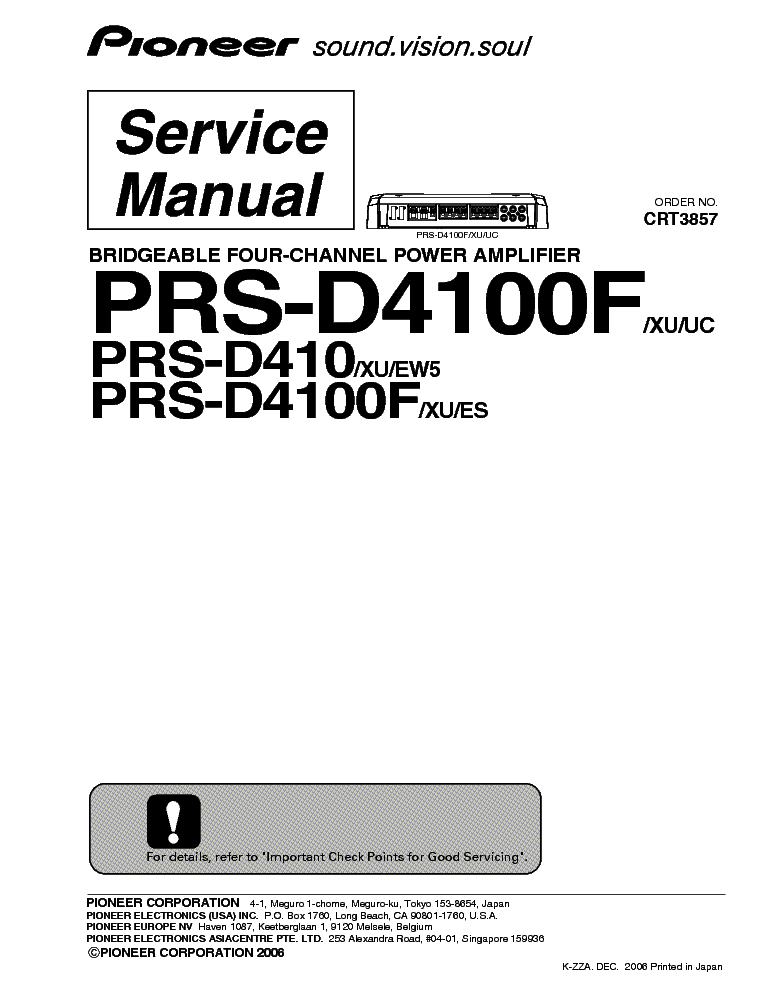 PIONEER MEH-P5100R P5150 SCH Service Manual download