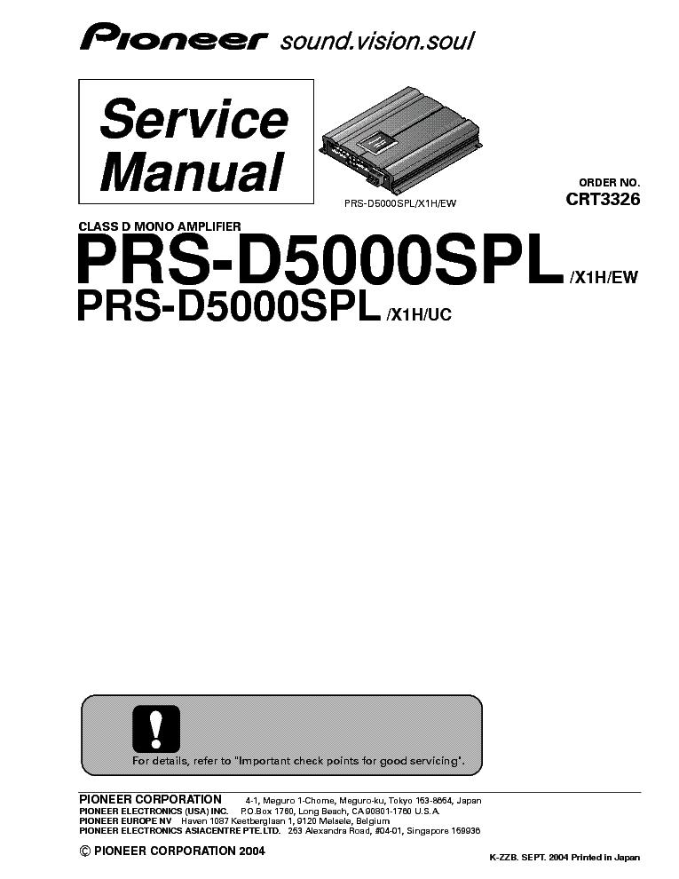 PIONEER DEH-343R 344R 345R Service Manual free download