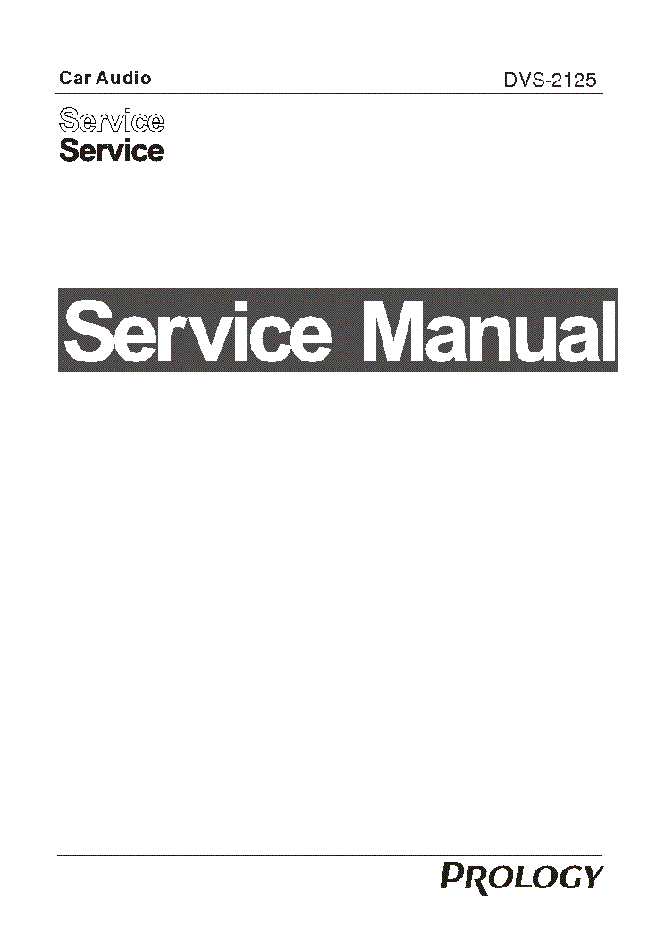 PROLOGY DVS-2125 Service Manual download, schematics