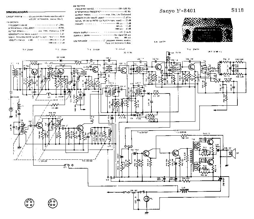 SANYO F-8401 SCH Service Manual download, schematics
