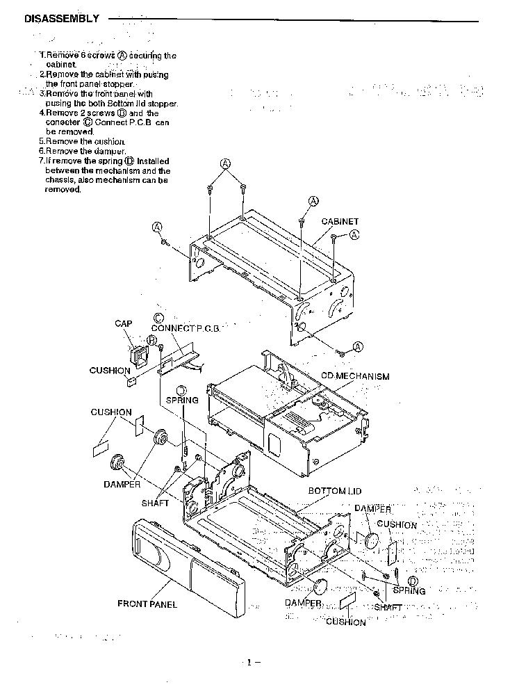 SANYO FXD-C300 SM Service Manual download, schematics