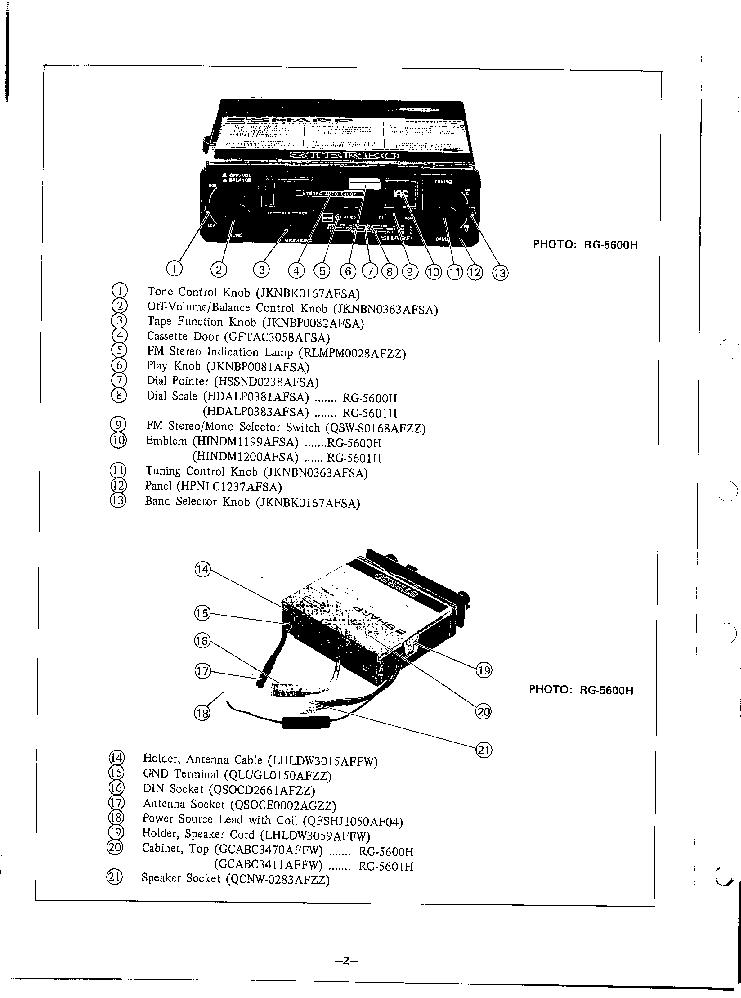 SHARP RG-5600H RG-5601H Service Manual download
