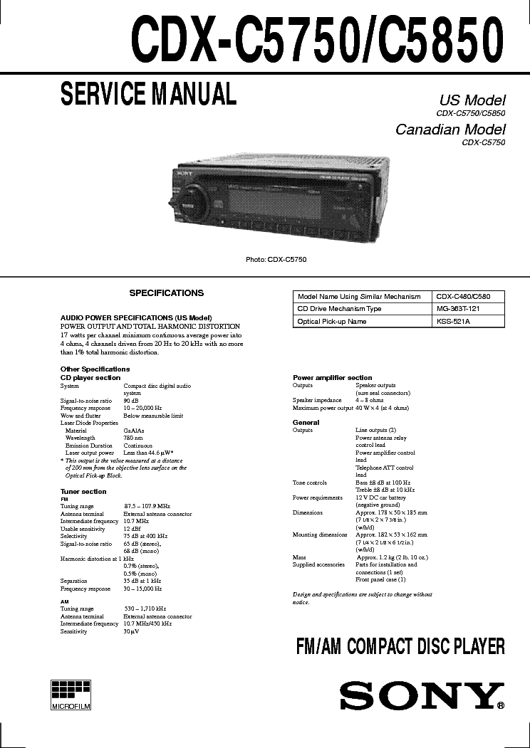 sony_cdx c5750_5850_car_audio.pdf_1?resize\=665%2C939 sony xplod deck wiring diagram cdx gt250mp tamahuproject org sony xplod deck wiring diagram at soozxer.org