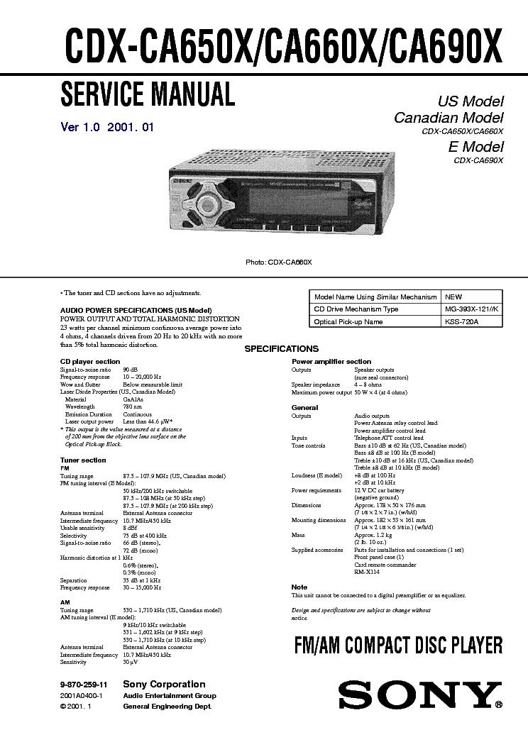 sony cdx l510x wiring diagram electric trailer brakes 29 images ca650x ca660x ca690x ver 1 0 sm pdf resize 665 2c941 ssl