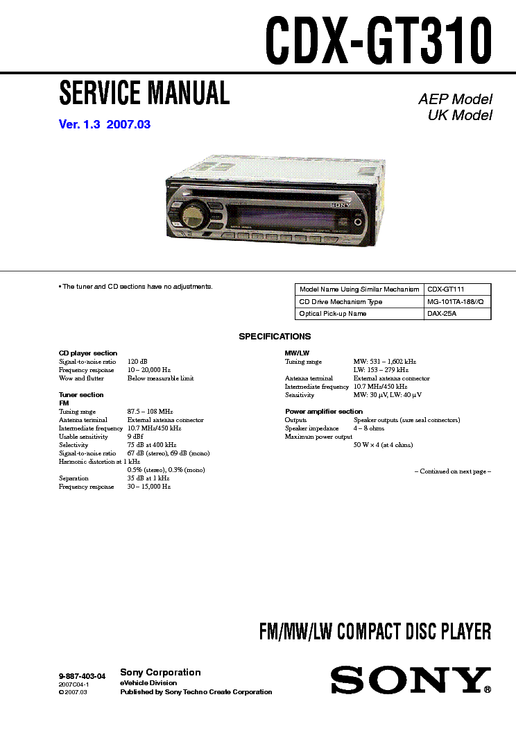 sony_cdx gt310_ver 1.3_sm.pdf_1?resize=665%2C941&ssl=1 cool sony cdx wiring diagram ideas wiring schematic tvservice us m&w ignition wiring diagram at arjmand.co