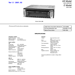 Sony Cdx L350 Wiring Diagram 1966 Ford Mustang Ignition L360 Ver 1 Sch Service Manual Download Schematics 1st Page
